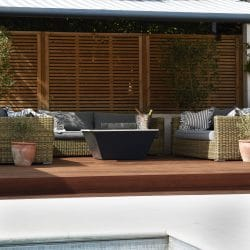 Kebony decking next to swimming pool