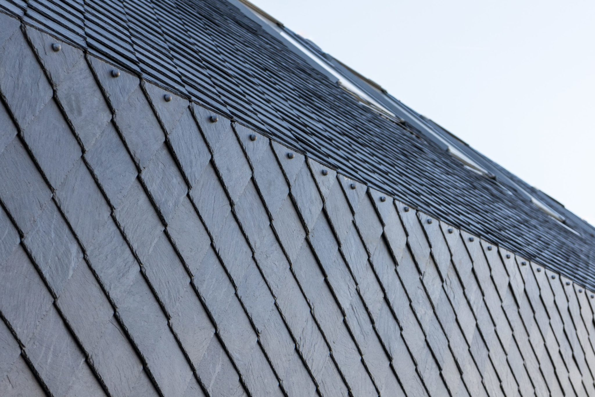 Roof close up detail of Ewell grove primary school