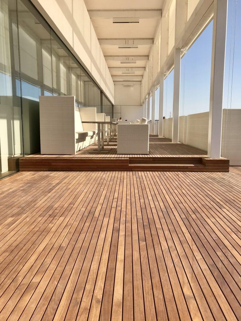 teak decking terrace in Abu Dhabi