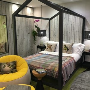 Oliver Heath hotel room with Shou Sugi Ban